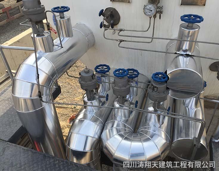CNG/LNG加气站管道保温施工